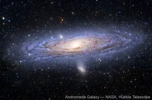La galaxie d'andromède, par Hubble