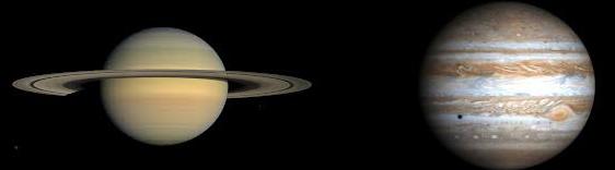 Saturne et Jupiter au télescope