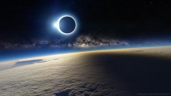 Eclipse du 20 mars 2015 vue depuis l'ISS